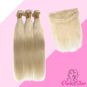 Blonde Bundles with 13x4 Closure - The Pink Star Company