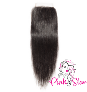 PRE-ORDER HD Closure - Straight Natural Hair - The Pink Star Company