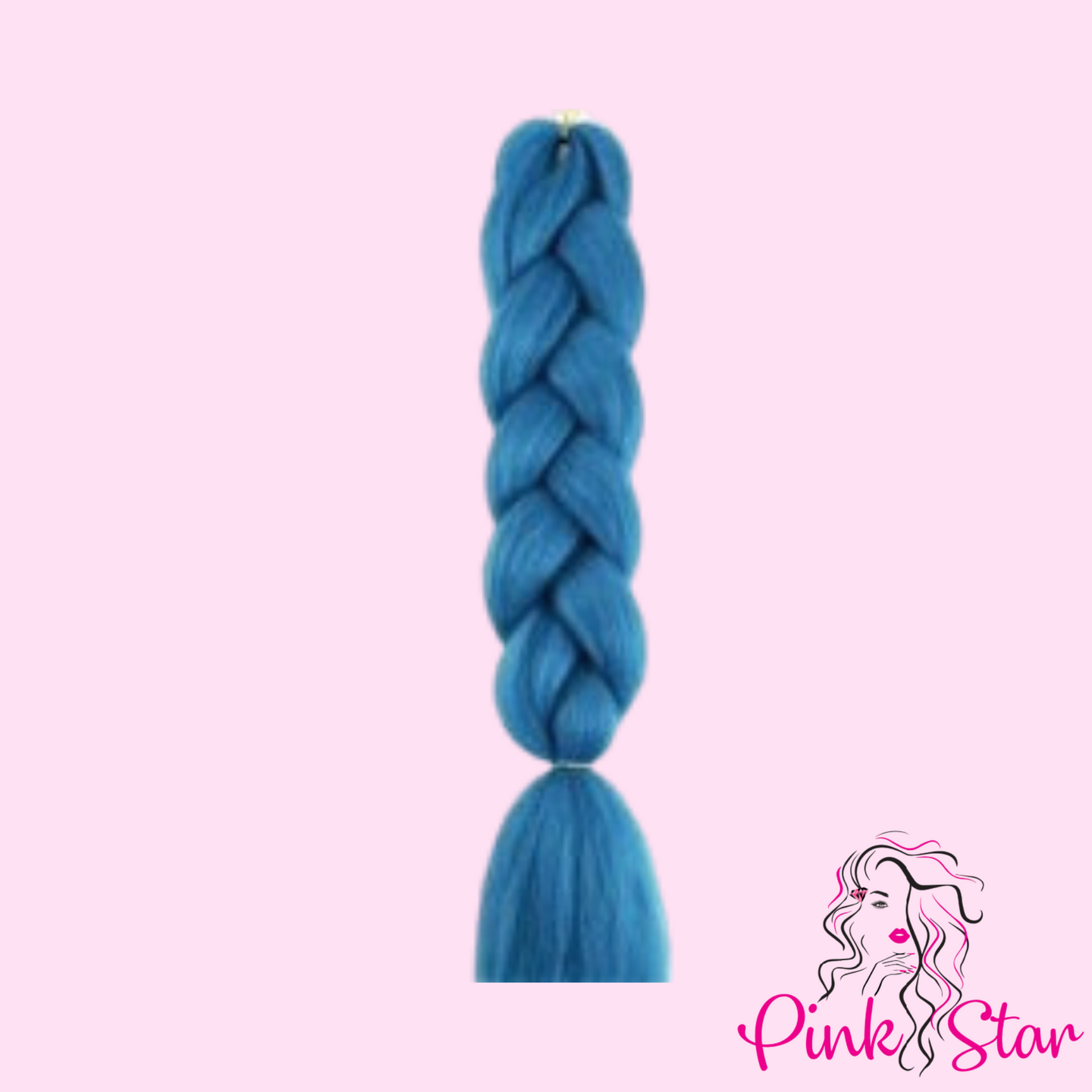 "48"" Braiding Hair - Sea Blue - The Pink Star Company"