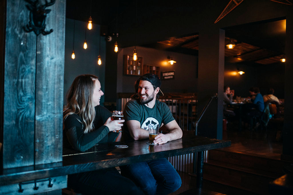 Miranda and Fletcher, owners of the brewpub in Yellowknife, NT