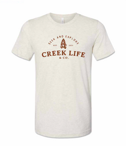 CREEK LIFE & CO CREAM TEE