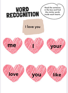 Word Recognition  Printables