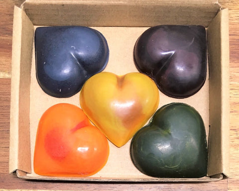 Heart Crayons - 100% nautral plant based crayons