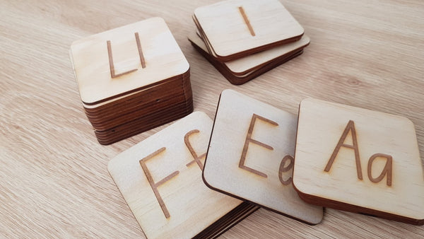 Engraved Letters with Timber Stand