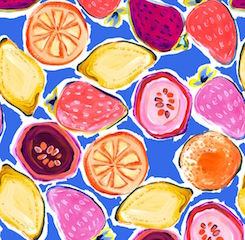 Fruity Beeswax Wrap