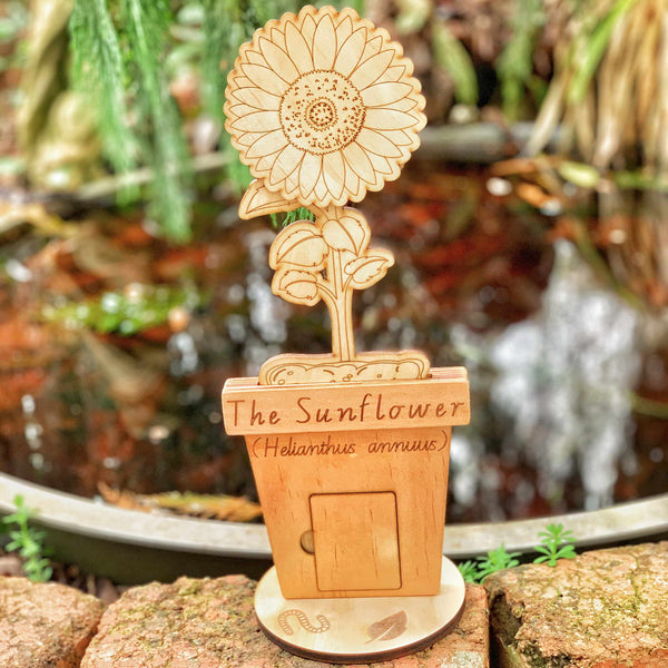The Sunflower - A Wooden Sunflower Stages Set
