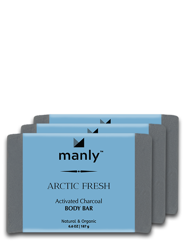 ARCTIC FRESH Activated Charcoal Body Bar, 3-Pack