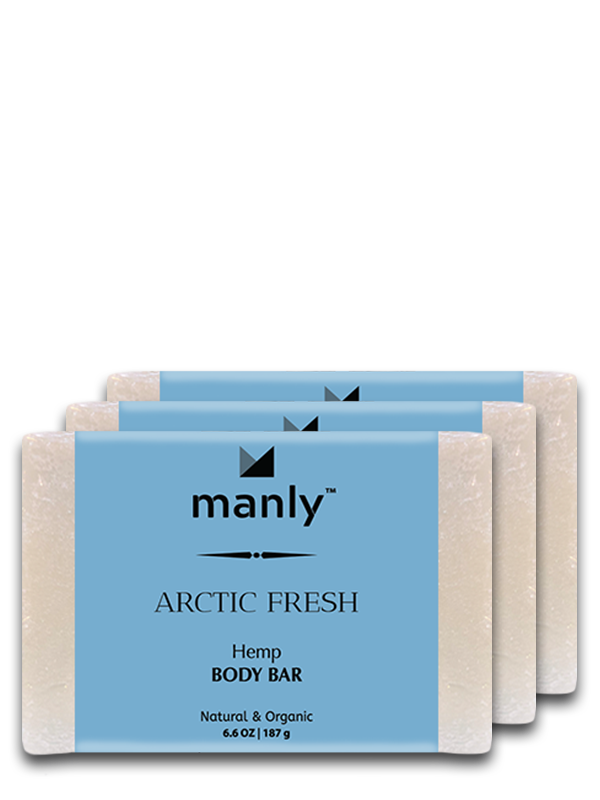 ARCTIC FRESH Hemp Body Bar, 3-Pack