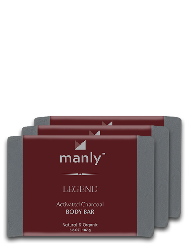 LEGEND Activated Charcoal Body Bar, 3-Pack