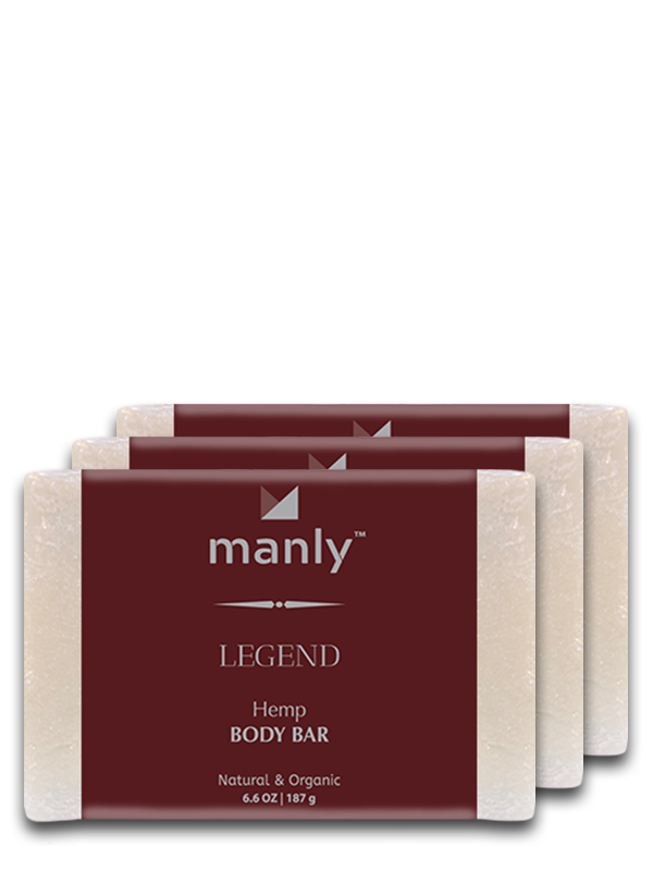 LEGEND Hemp Body Bar, 3-Pack
