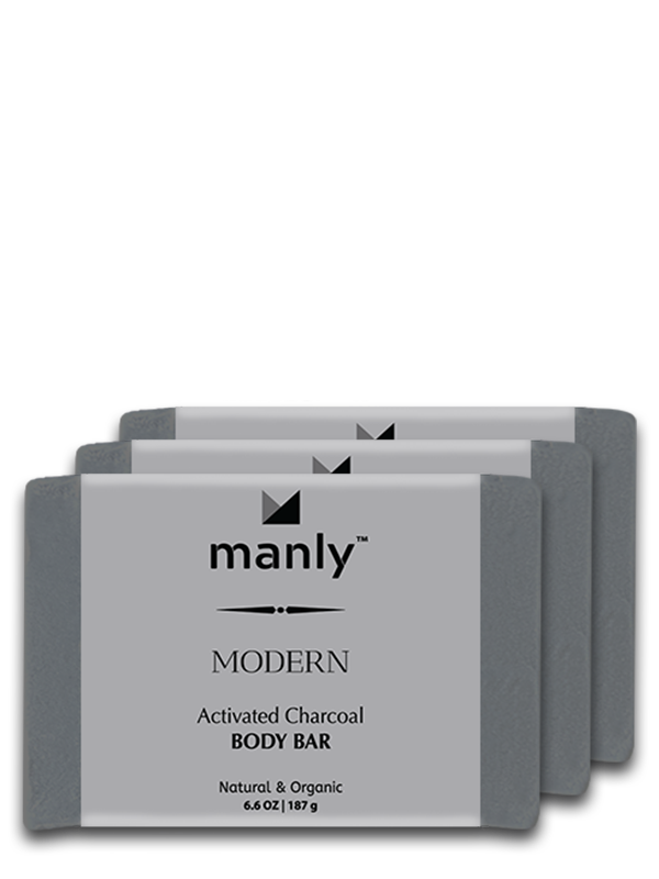 MODERN Activated Charcoal Body Bar, 3-Pack