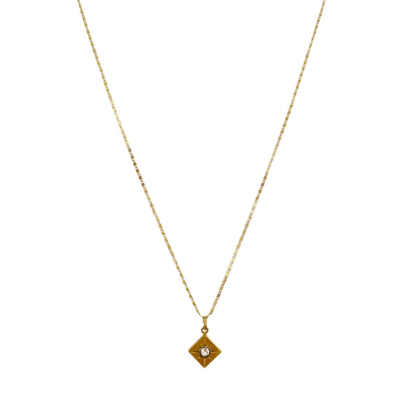 Gold Lookout Crystal Necklace