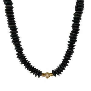 Black // Gold Ghana Necklace