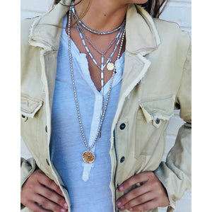 Best Selling Silver African Trade Bead Necklace + Gold//Silver Coin - PREORDER