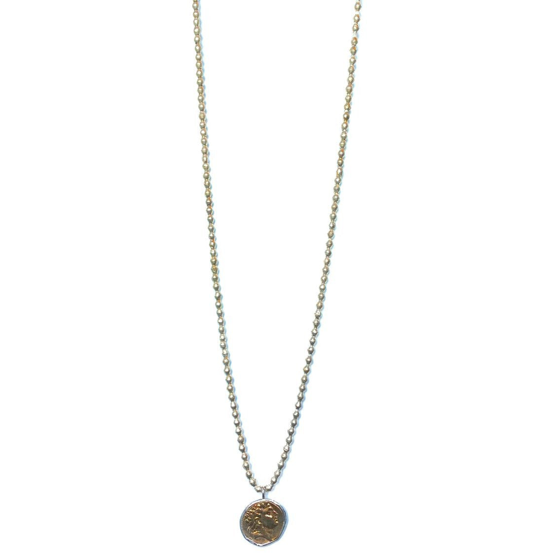 Best Selling Silver African Trade Bead Necklace + Gold//Silver Coin