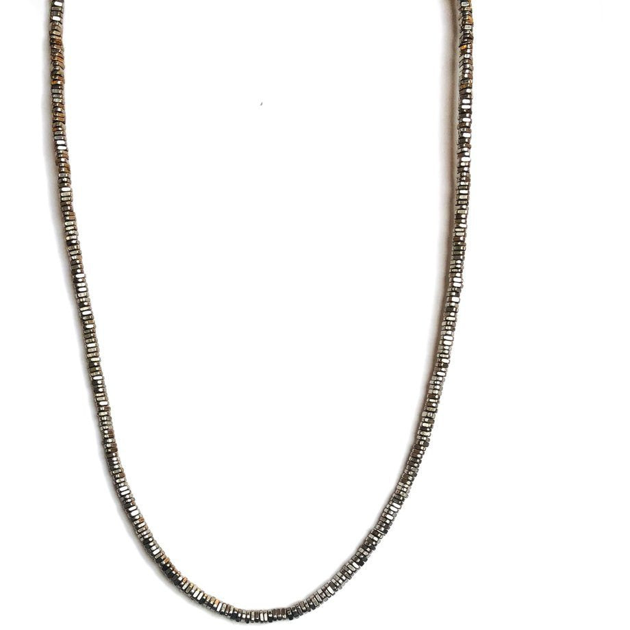 Long Silver Heshi Necklace