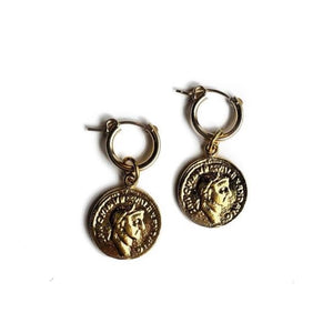 Best Selling Gold Hoop + Coin Earring - PREORDER