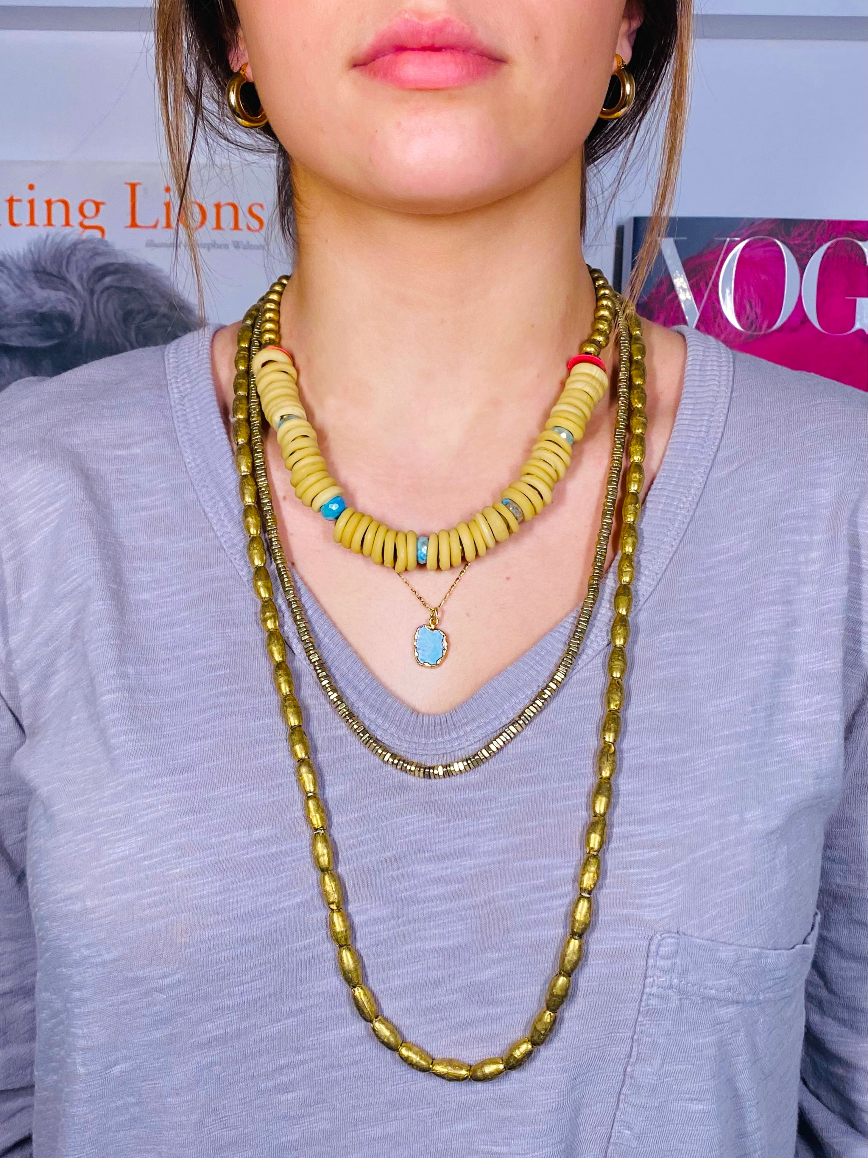 Mystic Turquoise Dogon Necklace