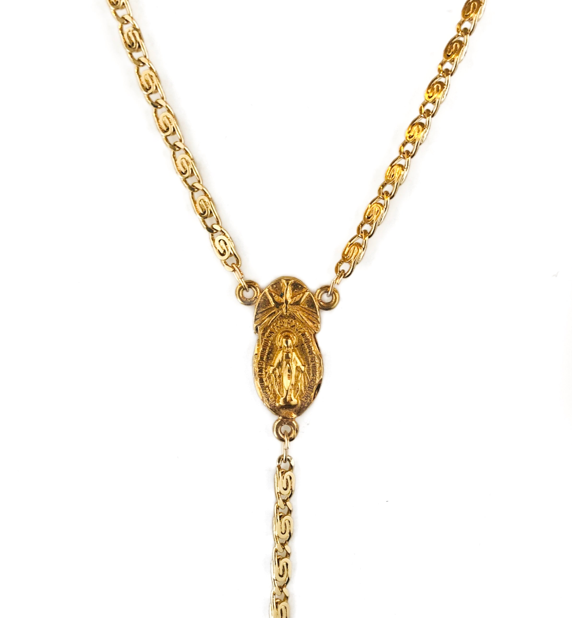 Gold Isla Rosary Necklace