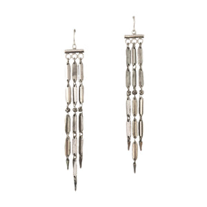 Three-Strand Silver Lauren Earring