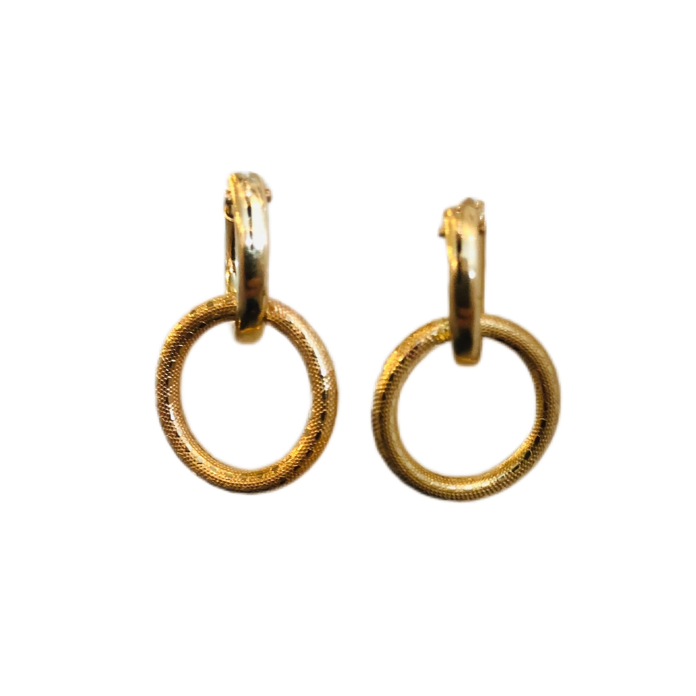Baby Gold Hoop + Ring Earring