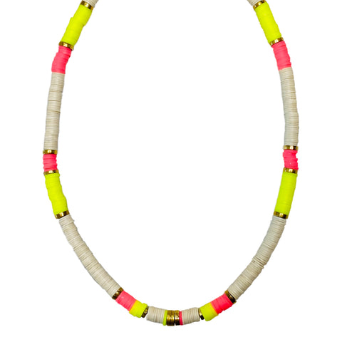 Neon Yellow + Pink Tahlia Necklace