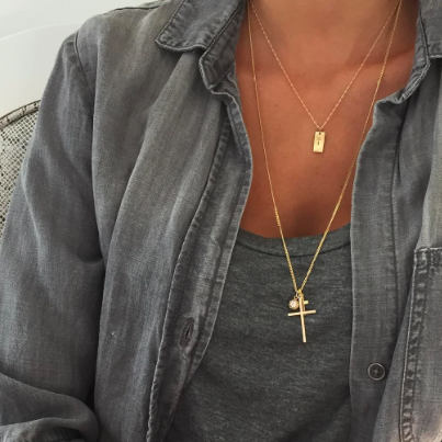 Best Selling Gold Cross Tag Necklace