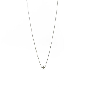 Baby Pave Diamond Cross Necklace