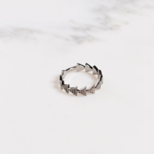 Pave Diamond Arrow Ring