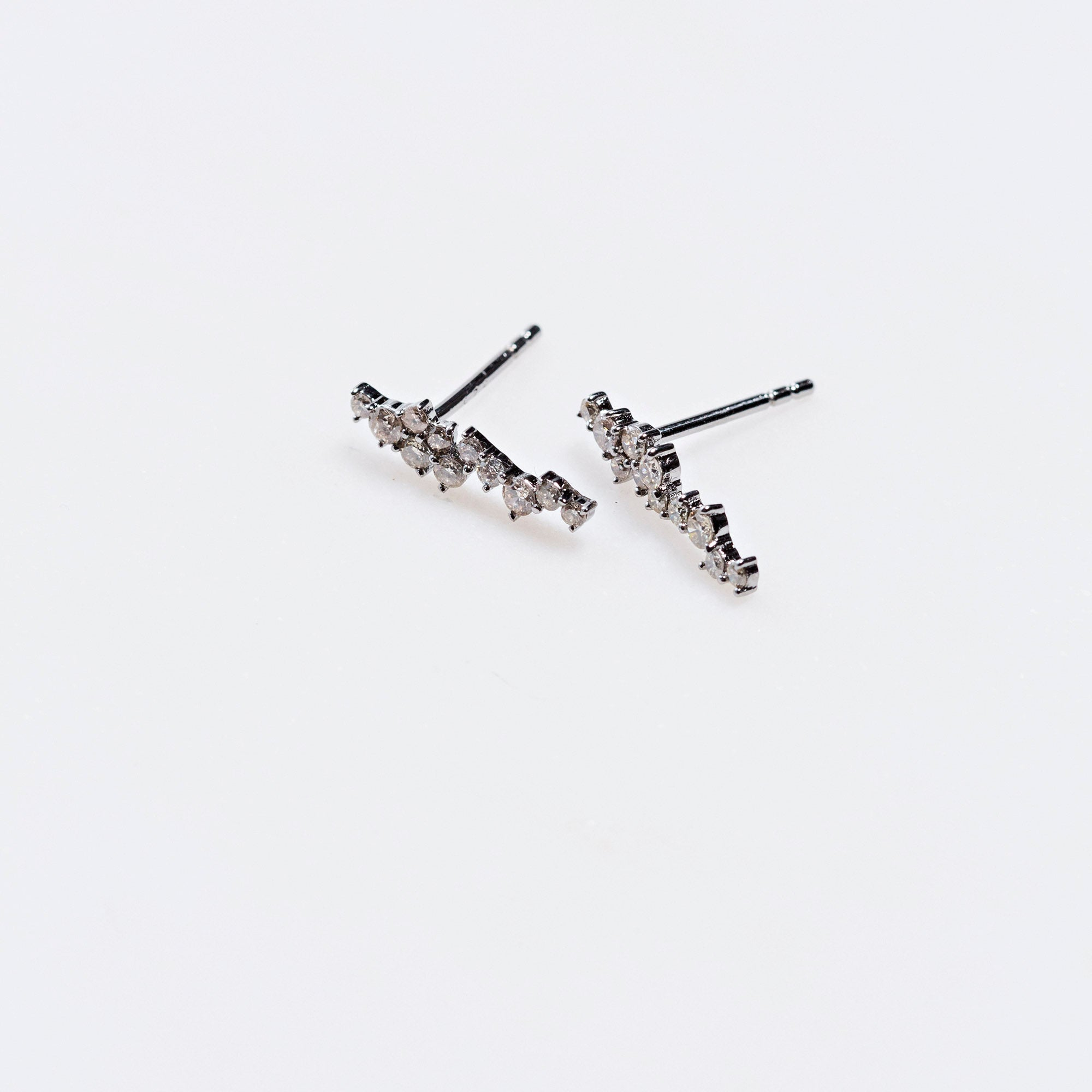 Pave Diamond Cluster Stud Earring