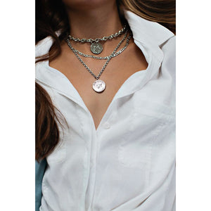 BEST SELLING Chunky Silver Coin Necklace