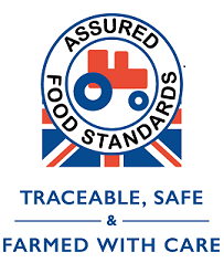 Red tractor, farmed with care, traceable and safe - support British Farmers