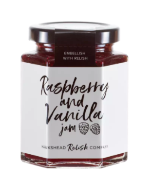 Raspberry and vanilla jam
