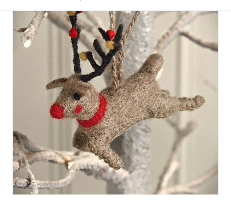 Christmas - reindeer tree decoration