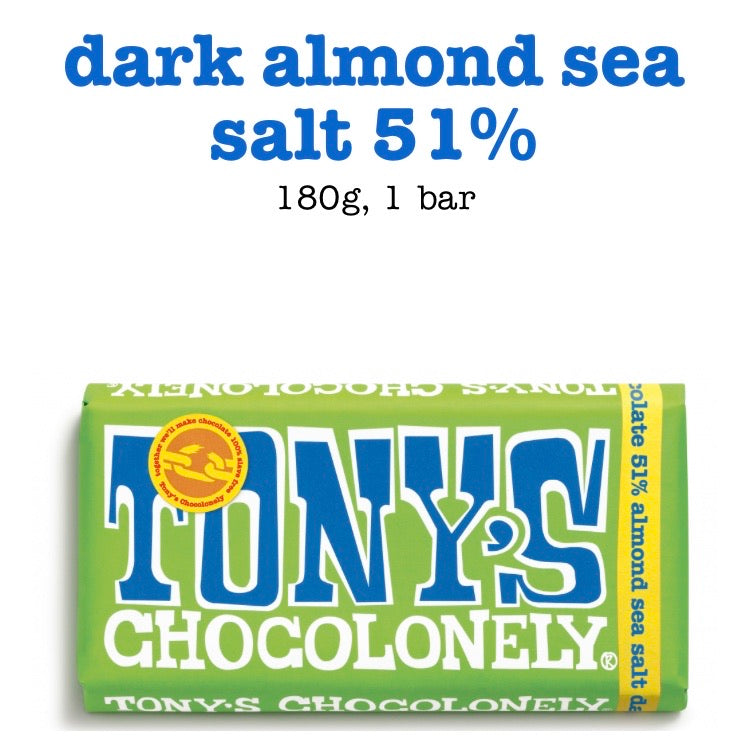 Dark chocolate - almond/salt