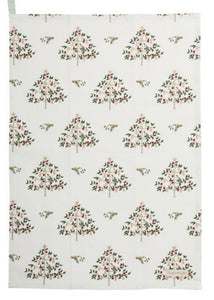 Christmas - Partridge in a pear tree - tea towel