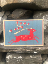 Load image into Gallery viewer, Wooden Christmas postcard