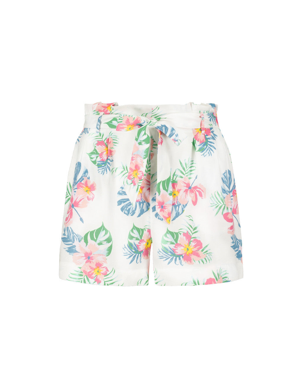 Shorts | White-Multi Color