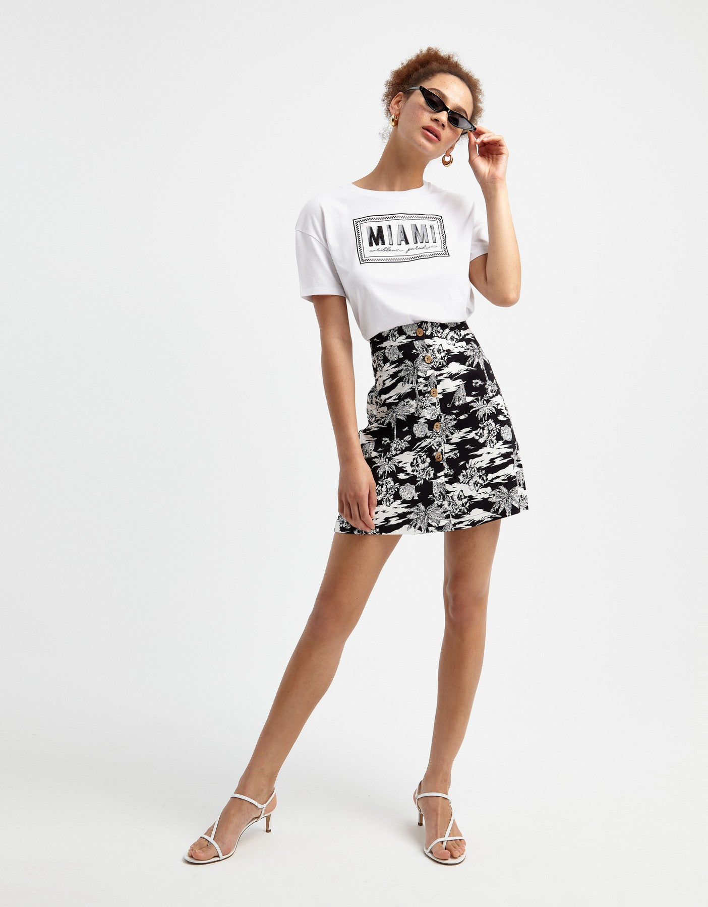 Skirt | Black-Off White