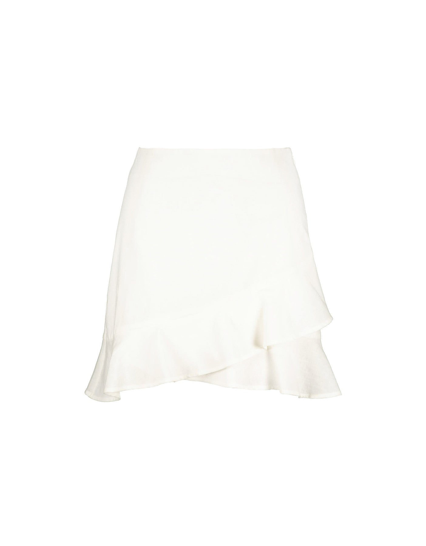 Ruffle Mini Skirt | Off White
