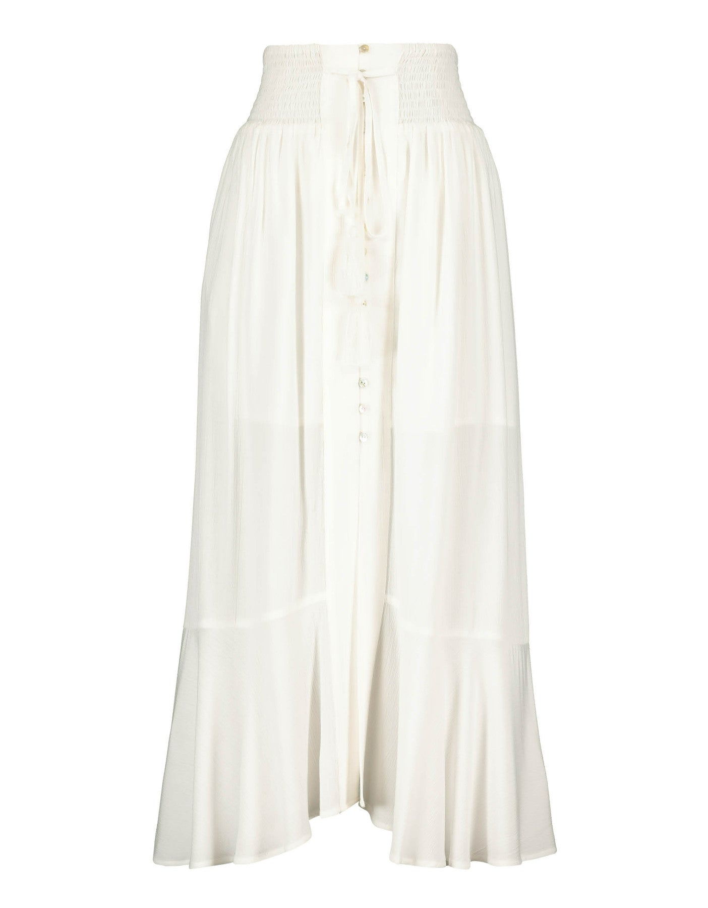 Long Buttonned Skirt | Off White