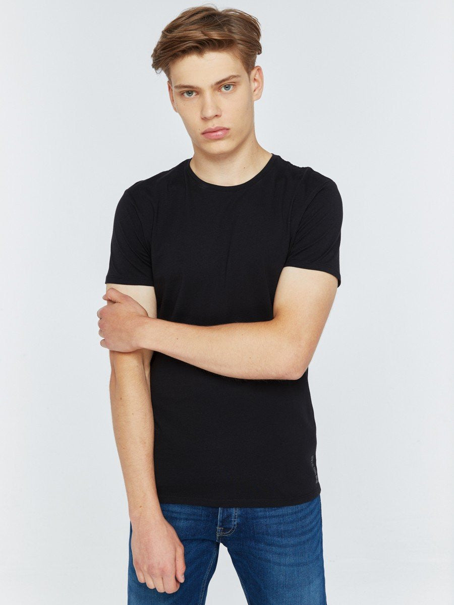 T.Shirt Basic Plain Round Neck | Black