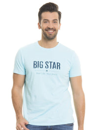 T.Shirt BIG STAR Logo | Coral Blue