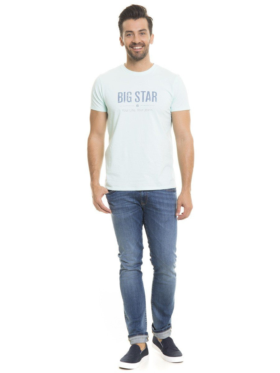 T.Shirt BIG STAR Logo | Aqua Blue