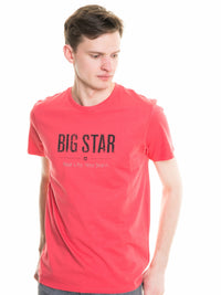 T.Shirt BIG STAR Logo | Rose Red