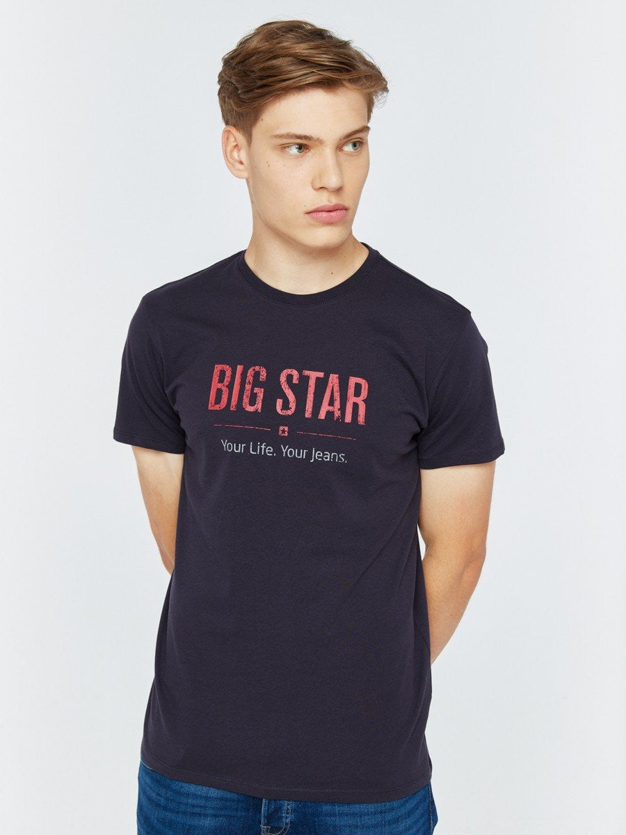 T.Shirt BIG STAR Logo | Navy Blue