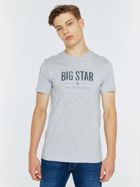 T.Shirt BIG STAR Logo | Heather Grey