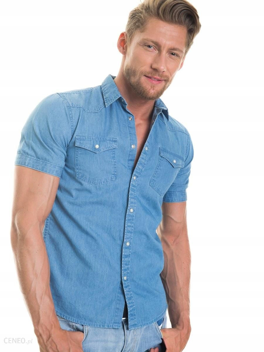 Shirt Short Sleeve Denim | Light Blue