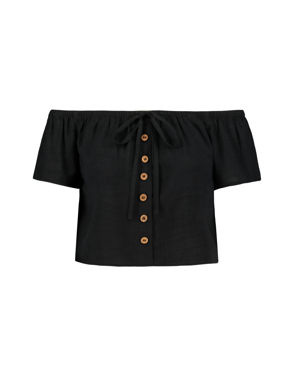 Shoulder Blouse | Black