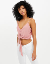 Crop Tank Top | Off White-Fig